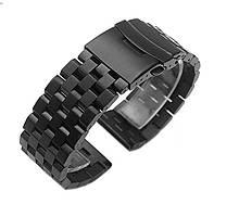 Ремінець-браслет BeWatch шириною 22 мм сталевий універсальний BeWatch Quadro Чорний (1024401)