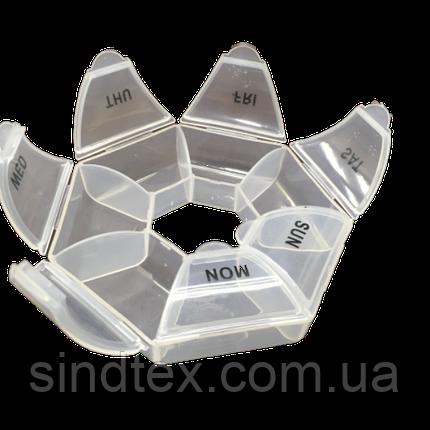 Ø11см пластиковая тара (органайзер для витаминов) неделька (657-Л-0229), фото 2