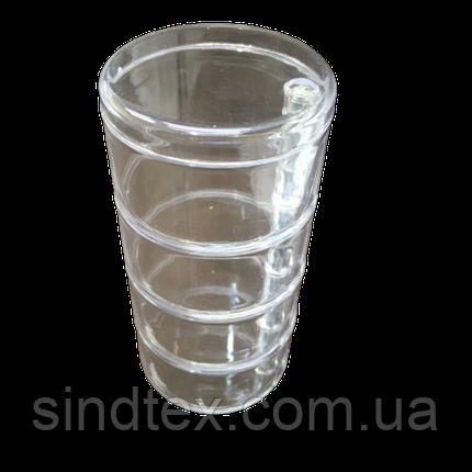 16х9,5х4,8см на 4 ячейки пластиковая тара (контейнер, органайзер) для рукоделия и шитья (657-Л-0235), фото 2