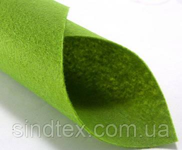 Фетр жесткий 1мм 20 х 25 см  Цена за 1 лист. Цвет - зеленый фисташковый (сп7нг-3834)