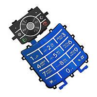 Клавиатура для Motorola Z3, High Copy, Синая /Кнопки/Клавиши /моторола