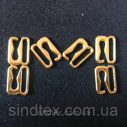 Золотий 1 см регулятор (МЕТАЛ) для бретелі бюстгальтера (застібка) (БФ-0016), фото 2