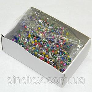 Портновские швейные булавки с цветными шариками (657-Л-0079)