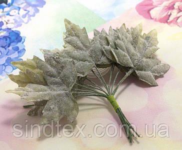 (12шт) Декоративні кленові листки на дроті, 11см (сп7нг-5684)