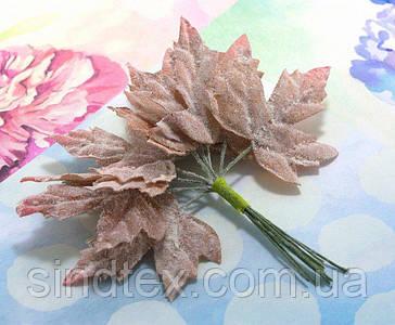 (12шт) Декоративні кленові листки на дроті, 11см (сп7нг-5686)