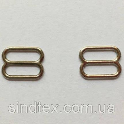 Срібний 1 см регулятор (МЕТАЛ) для бретелі бюстгальтера (вісімка) (БФ-0022), фото 2