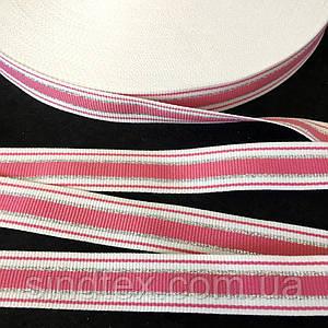 Лампасная репсова стрічка (тасьма) з люрексом ширина 2см. на відріз кратно 1 м. - (БР) (6-БЛ-0004)