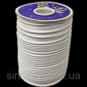 Лента кант для шитья атлас, цвет белый (УМН-660-0007)