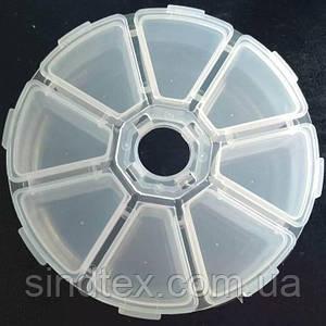 10х2,5см пластиковая тара (контейнер, органайзер) для рукоделия и шитья (657-Л-0205)