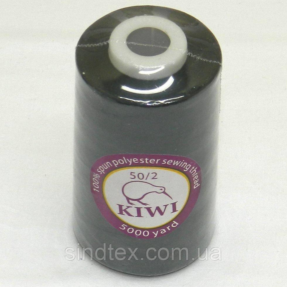 Нитки Kiwi (киви) швейные черные 50/2 5000ярдов (339-Kiwi-100)