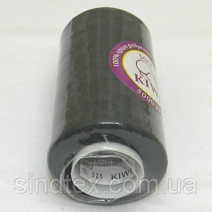 Нитки Kiwi (киви) швейные черные 50/2 5000ярдов (339-Kiwi-100), фото 2