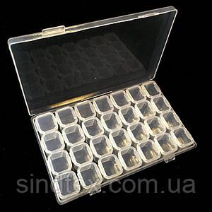 17x10см пластиковая тара (контейнер, органайзер) для рукоделия и шитья (657-Л-0207)