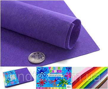 10 листов, Фетр жесткий 1мм  Заводская фасовка, 30х20см CHIISEN, Фиолетовый фетр (сп7нг-4905)