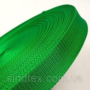 Тасьма сумочная-ремінна Sindtex 3см зелена (СИНДТЕКС-0848)