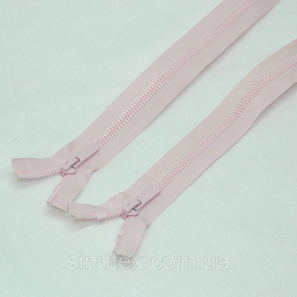(рожевий) Роз'ємна блискавка Баришівка 80см (6-2426-В-131)
