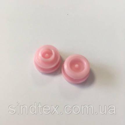 Кнопки пластикові кольорові для дитячого одягу і постільної білизни Т5 Ø 11,7 мм Рожеві (10 компл.) (SIND-05), фото 2