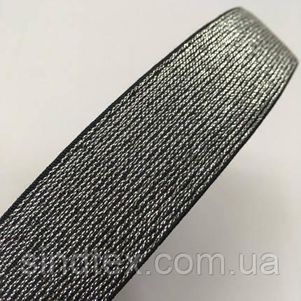 Резинка поясная 3см черная с люрексом серебро (653-Т-0468), фото 2