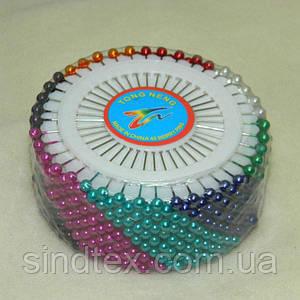 Портновские швейные булавки цветные с шариком (иглы для закалывания) (657-Л-0004)