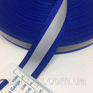 На метраж стрічка-тасьма світловідбиваюча 2см, синя (653-Т-0672)