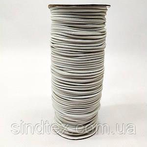 2 мм кругла Резинка (капелюшна) біла 100 ярд. (СИНДТЕКС-0278)