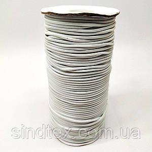 2,5 мм кругла Резинка (капелюшна) біла 100 ярд. (СИНДТЕКС-0280)