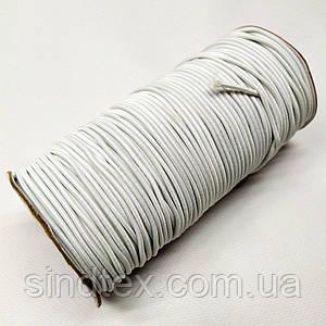 3 мм кругла Резинка (капелюшна) біла 100 ярд. (СИНДТЕКС-0282)