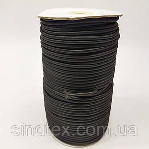 3 мм кругла Резинка (капелюшна) чорна 100 ярд. (СИНДТЕКС-0283)