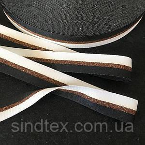 Лампасная репсова стрічка (тасьма) ширина 2см. на відріз кратно 1 м. - (ЧКБ) (660-РОЗУМ-0001)