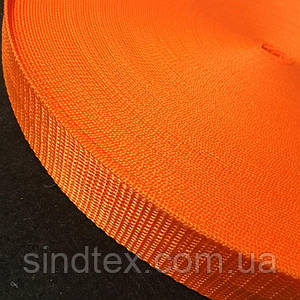 10- Оранжевая тесьма сумочная-ременная, 3см (657-Л-0624)