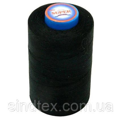 Нитки Super швейні чорні 40/2 4000ярдов (6-2274-М-B), фото 2