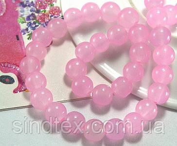 Полупрозрачные стеклянные бусины 8мм 75шт, Розовая акварель (сп7нг-5537)