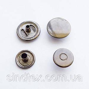 Кнопка АЛЬФА двухсторонняя - 15мм  Блэк никель (50шт.) (ИР-0063)