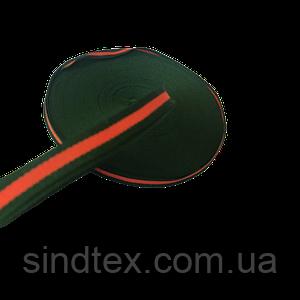 Лампасная репсова стрічка (тасьма) ширина 1см. на відріз кратно 1 м. - (657-Л-0651)