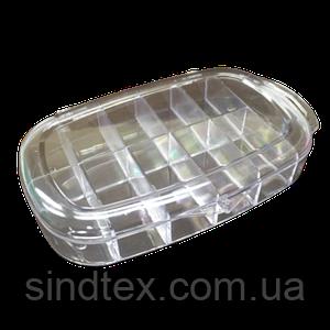 13х8х2,5см 11 ячеек пластиковая тара (контейнер, органайзер) для рукоделия и шитья (657-Л-0232)