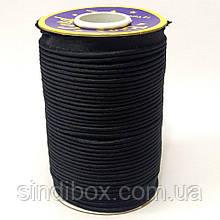 Лента кант для шитья атлас, цвет черный (УМН-660-0010)