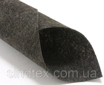 Фетр жесткий 1мм 20х25см Цена за 1 лист. Цвет - Темно-серый меланж (сп7нг-5602)
