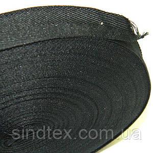2 см Киперная лента (синтетическая, черная) - 50м. (653-Т-0511)