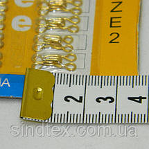№2 крючки, застежки для одежды Sindtex золотые 24шт (653-Т-0082), фото 3