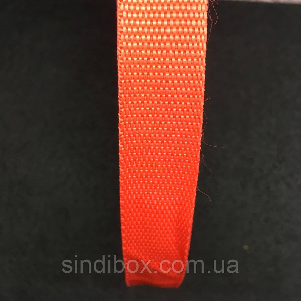 Стропа мягкая, цвет красный, ширина 2 см., длина 50 ярд. (653-Т-0011)