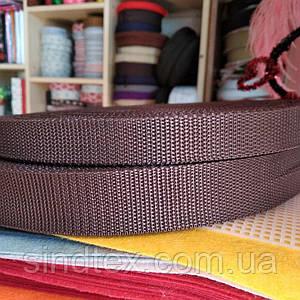 Стропа, колір шоколадний, ширина 2 см, довжина 50 ярд. (653-Т-0009)