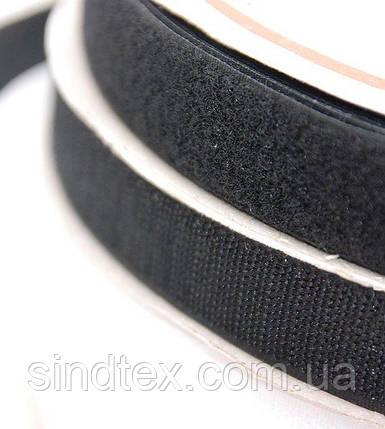 Длина23м. Чорна 3см. текстильна застібка (липучка, стрічка Velcro) для одягу та взуття (657-Л-0540), фото 2