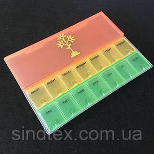 15х21х3см цветной пластиковый органайзер (контейнер) для рукоделия и фурнитуры (657-Л-0563)