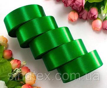 "(5 рулонов) Лента атласная 2,5см ширина (25 ярдов) ""LiaM"" Цена за блок Цвет - Зеленый (сп7нг-7205)"