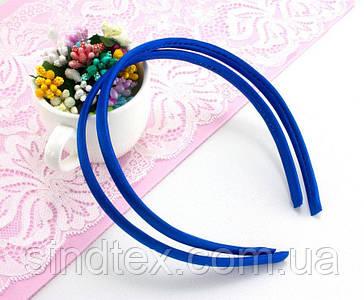 Обруч, ободок для волос обтянутый атласной тканью (9мм ширина) пластик Цвет - Электрик (сп7нг-0109)