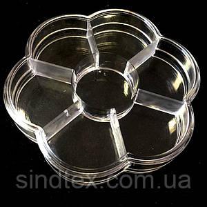 Ø9см пластиковая тара (контейнер, органайзер) для рукоделия и шитья (657-Л-0218)