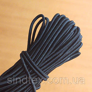 2 мм Резинка круглая (шляпная) черная 50 ярд. (СИНДТЕКС-0279-М)