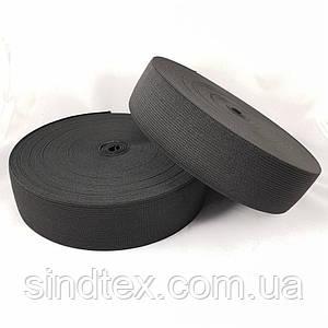 Широкая бельевая резинка для одежды Sindtex черная 2.5 см х 22,5 м (СИНДТЕКС-0067)