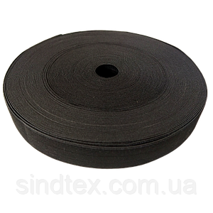 Широкая бельевая резинка для одежды Sindtex черная 3 см х 22,5 м (СИНДТЕКС-0068)