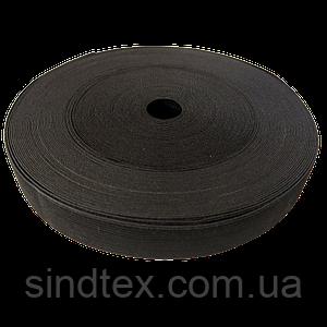 Широкая бельевая резинка для одежды Sindtex черная 3,5 см х 22,5 м (СИНДТЕКС-0069)