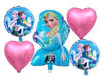 Набор фольгированных шаров Холодное сердце 5 шт Китай